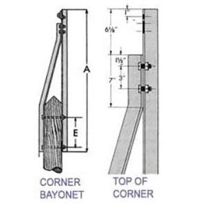 Corner Bayonets Dim Drawing Image