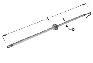 Padlocking Stick Dim Drawing Image